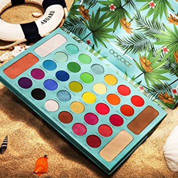 Tropical Eyeshadow Palette Docolor 34 Colors Makeup Eyeshadow Ultra Pigmented Powder Long Lasting