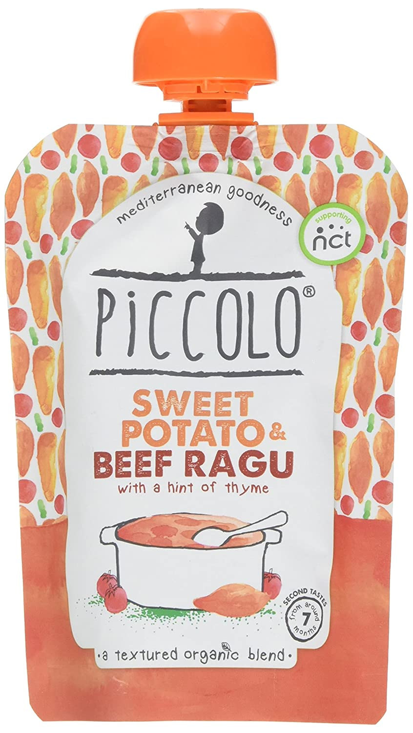 Piccolo Stage 2 Sweet Potato and Beef Ragu Puree, 130 g, Pack of 7 PIC6002
