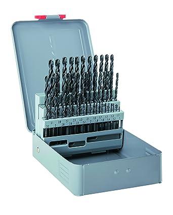 Durchmesser 1-13 x 0,5 mm als 25-teiliger Satz in der Metallkassette DIN 338 RN alpen HSS Sprint Spiralbohrer 800321100 kurz