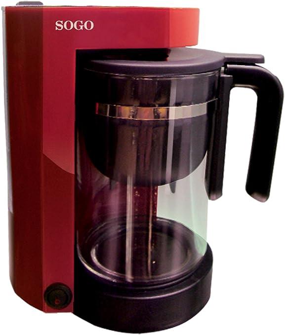 Sogo SS-5610 - Cafetera tetera electrónica combo 2 en 1, color rojo: Amazon.es: Hogar