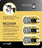 Dynotag Web/GPS Enabled QR Smart Mini Fashion Tags - 3 Identical Tags for Gear