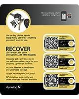 Dynotag Web/GPS Enabled QR Smart Mini Fashion Tags - 3 Identical Tags for Gear