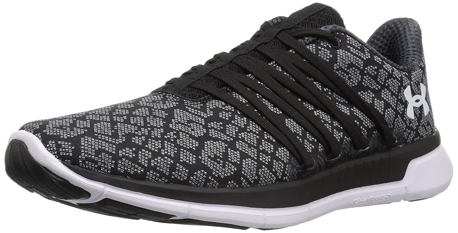 Under Armour Women's Charged Transit Running Shoe B0719KQ96C 7 M US|Black (001)/Overcast Gray