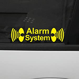 GreenIT Lot de 2 autocollants « Alarm System » - Film autocollant découpé pour portière ou fenêtre de voiture - Produit d'origine