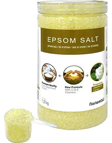Nortembio Sal de Epsom Hidratada con Vitamina C y E. Alto Contenido en Magnesio.