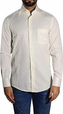 mmuga Sombra Rayas Camisa para Hombre, Color Crema/Ivory ...