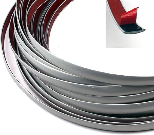 Zierleiste Kantenschutz Selbstklebend Kfz Silber Matt In Verschiedenen Größe Wählbar 7 M Silber Matt 17mm Auto