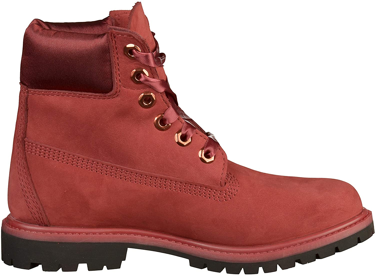 Womens Timberland 6 Inch Premium Boot Velvet Red Ankle Boots