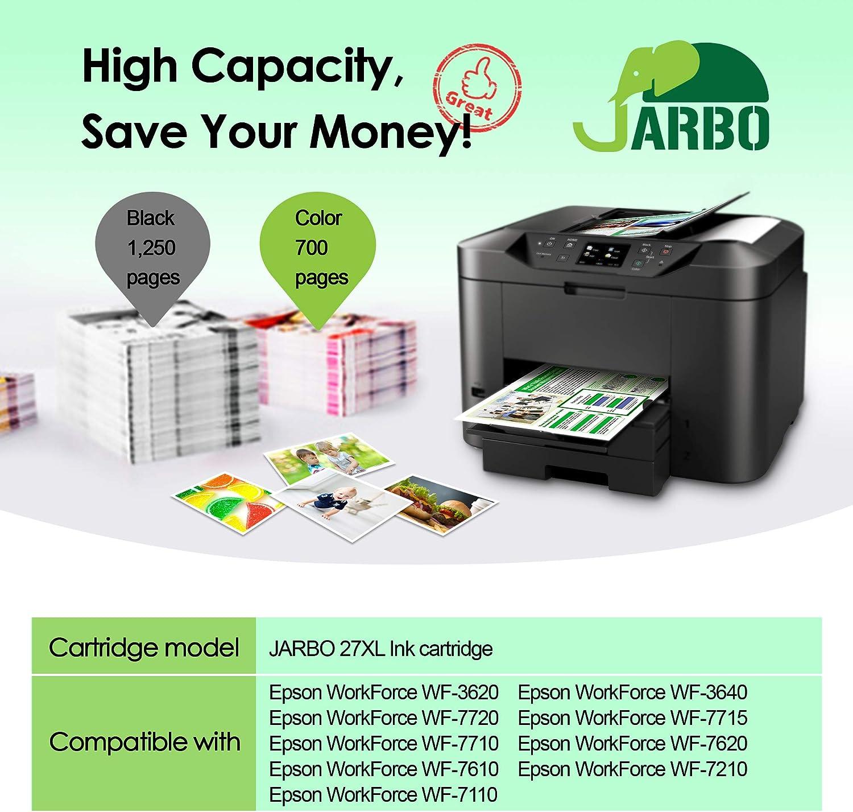 JARBO Compatible Epson 27XL Cartuchos de tinta Gran Capacidad para ...
