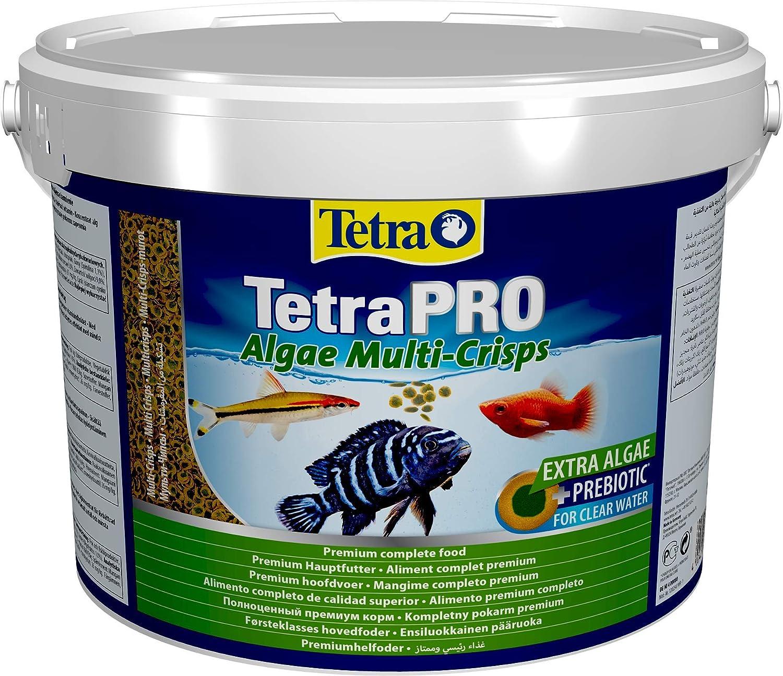 Tetra Pro Algae Multi-Crisps 10 L - Mangime Completo di Qualità Superiore con Valori Nutrizionali Eccellenti, Concentrato di Alghe Extra Aumenta la Resistenza dei Pesci