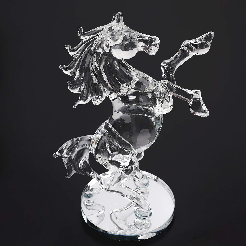 London Boutique Dekofigur Pferd mit Kristallen, Geschenk