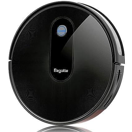 Bagotte Robot Aspirador BG600 - Robot de Limpieza con Gran Potencia de succión 1500 Pa,