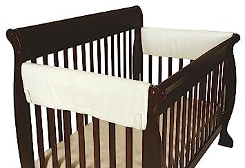 leachco easy teether xl side crib rail cover 2 pack ivory