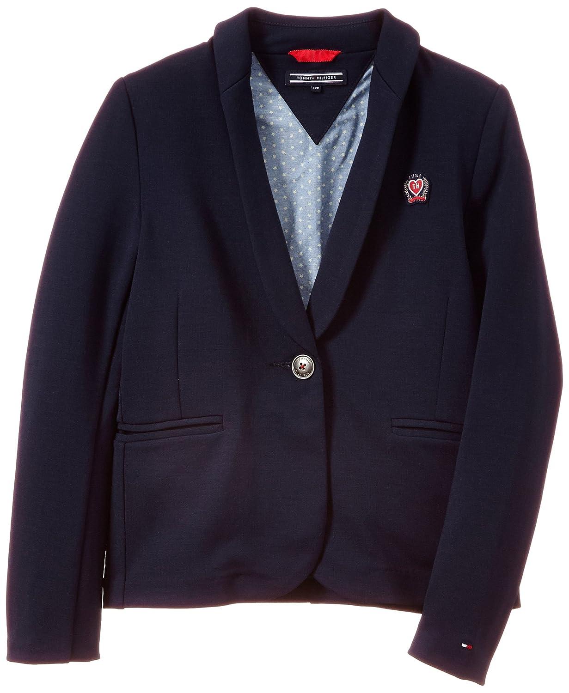 Tommy Hilfiger Girl's Mell HWK Blazer Jacket Blue (Black Iris Pt) EX57129278