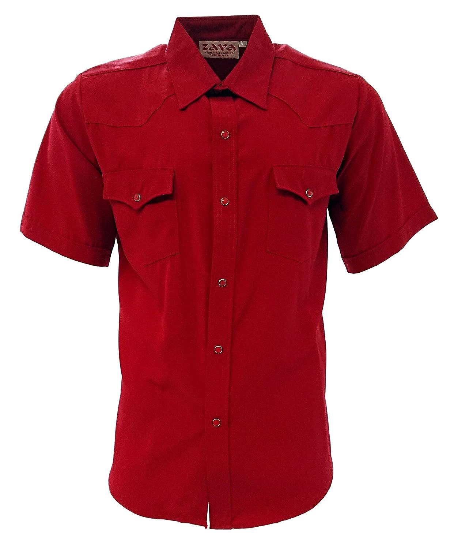 Zava Fashion Mens Cowboy Shirts Camisa Vaquera Western Shirt Short Sleeve Made in USA at Amazon Mens Clothing store: