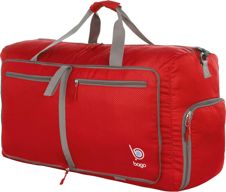 Voyage Duffel Bag pour Hommes et Femmes Enfants - Léger Pliable Duffle Bag 22' (Noir)
