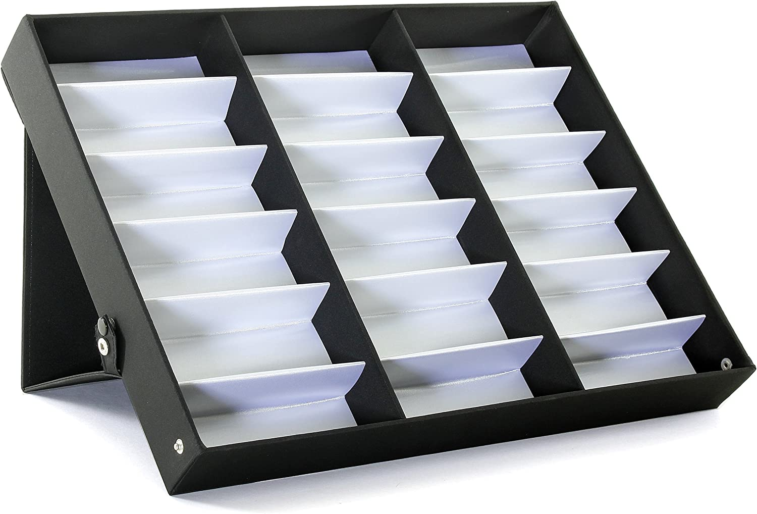 ProSource 18 Piece Sunglass Eyewear Eye Wear Display Tray Case Stand. Also Great for Watches and Jewelry: Sports & Outdoors
