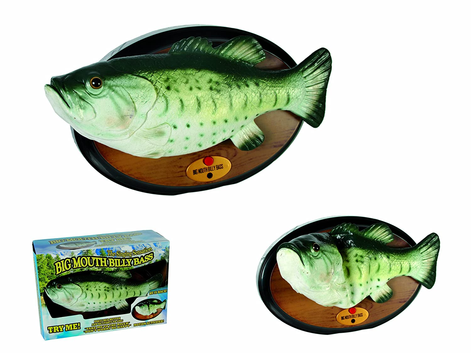 OUT OF THE BLUE Billy Bass Don\'t worry be happy & I\'ll survive, Pez ...