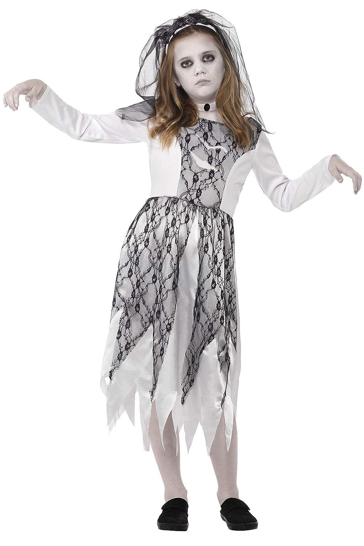 Smiffys Disfraz de Novia fantasmagórica, Gris, con Vestido, Velo y ...