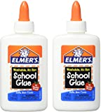 Washable No-Run School Glue, 4 oz, 1 Bottle (E304) - Pack of 2