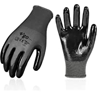 Vgo 10Pairs Nitrile Coating Gardening and Work Gloves (Size S,Grey,NT2110)