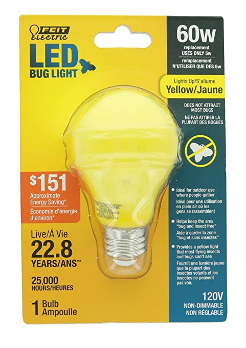 Amazon.com: Feit A19/Bug/LED No Regulable A19 LED Bug Luz ...