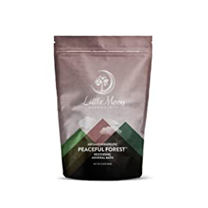 Little Moon Essentials Restoring Mineral Bath Salt, Peaceful Forest, 13.5 oz.