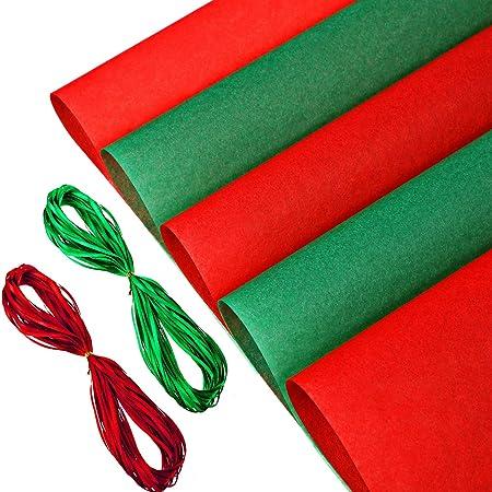 Rosso di carta velina 50 x 75 cm confezione da 10 pezzi dimensioni