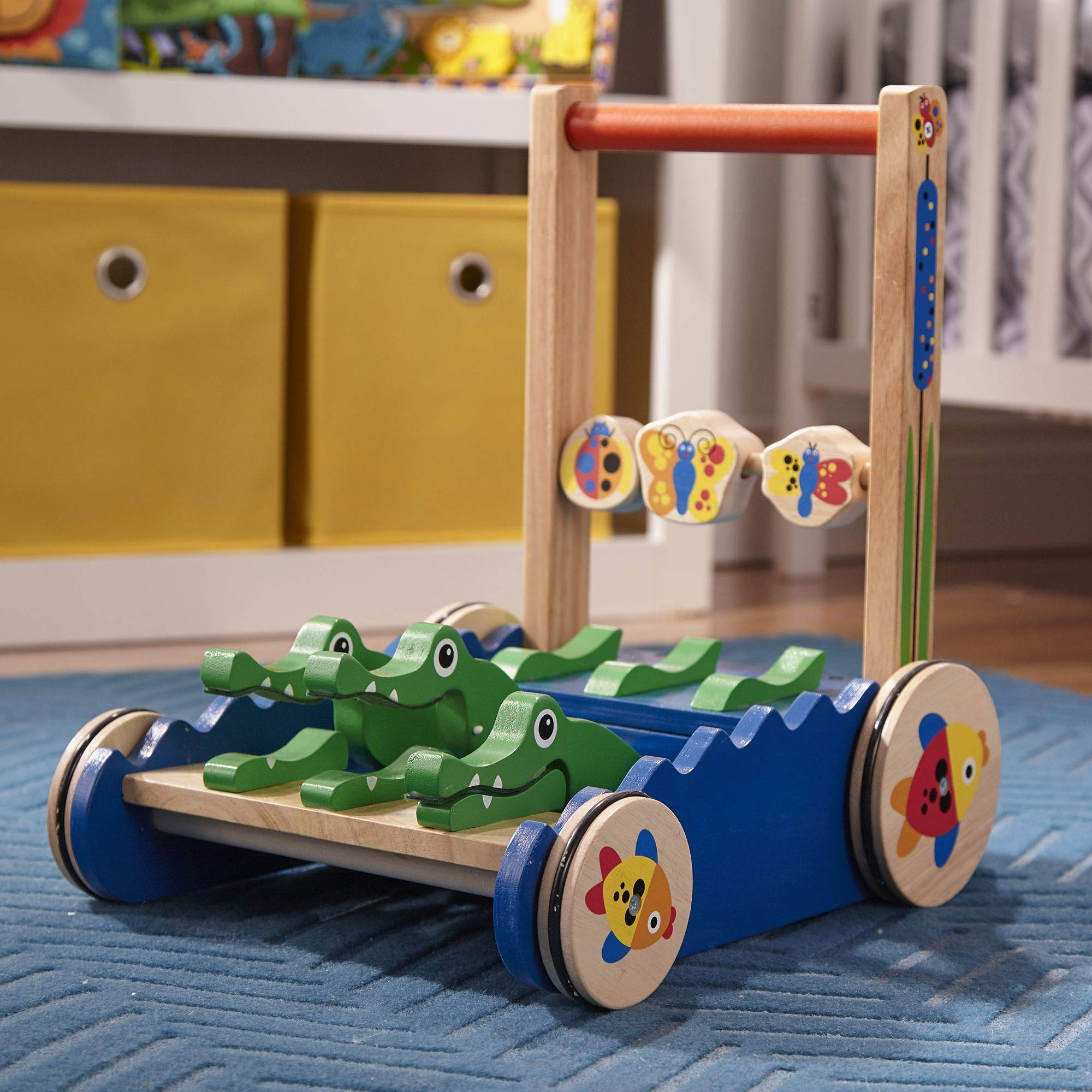 Melissa & Doug Deluxe Chomp and Clack Alligator Wooden Push Toy and Activity Walker by Melissa & Doug (Image #3)