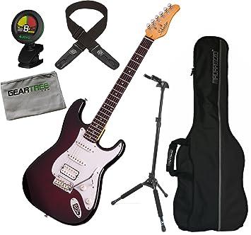 Schecter 3047 tradicional Custom guitarra eléctrica (rosa y negro Cherry Burst) W/gamuza