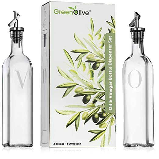 Vinagre dispensador de botellas de aceite de oliva: Amazon.es: Hogar