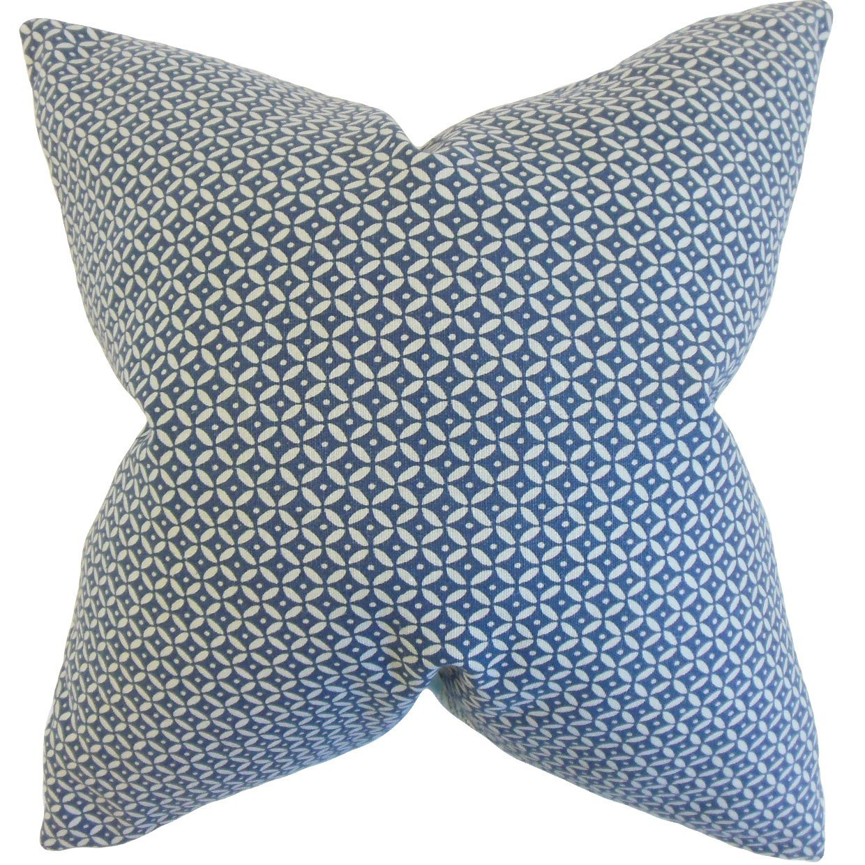 The Pillow Collection Nima Geometric Bedding Sham Indigo Euro//26 x 26