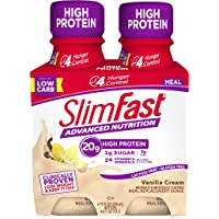 SlimFast Advanced Nutrition Vanilla Cream Shake – Ready To Drink Meal Replacement – 20g of Protein – 11 Fl. Oz. Bottle…