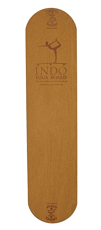 INDO BOARD Yoga Board with Cork Deck - Practice Unstable Yoga Without The Need For a Stand Up Paddleboard or Water. Brings A New Level Of Yoga Into ...