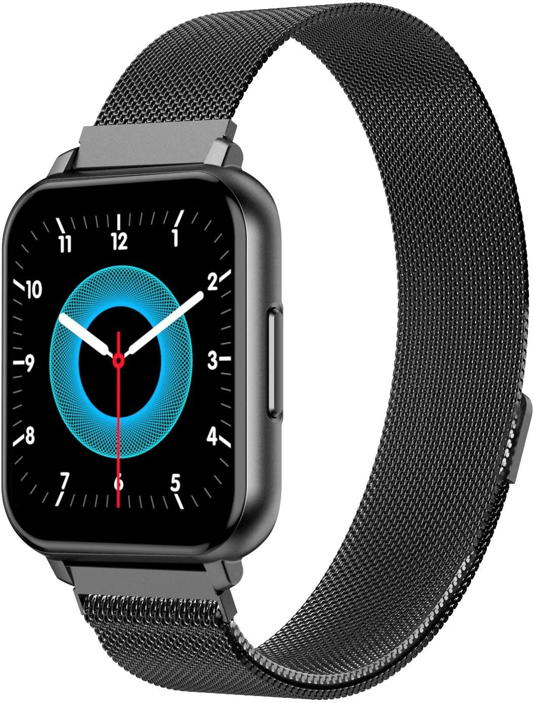 G.Home Smart Watch,Fitness Tracker with Blood Pressure Heart Rate Sleep Monitor,Pedometer Watch for Men and Women,IP67 Waterproof Smartwatch(Black Aluminum Case with 2 Bands)