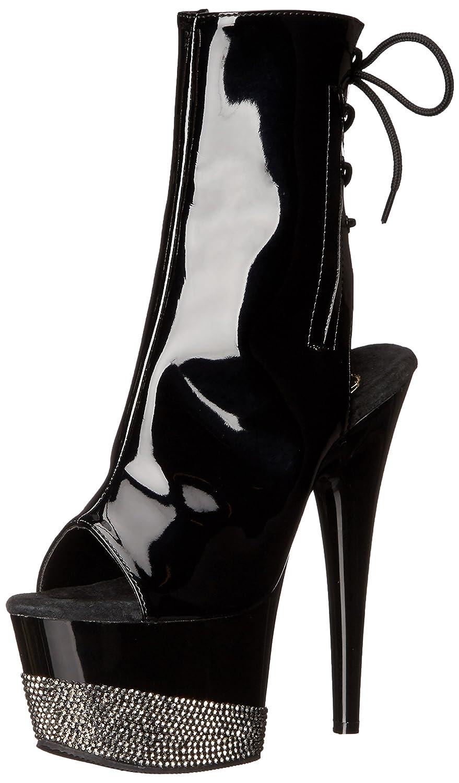 Pleaser Women's ADO1018-3/B/B-PWRS Boot B014IZZJY4 10 B(M) US Black/Black/Pewter