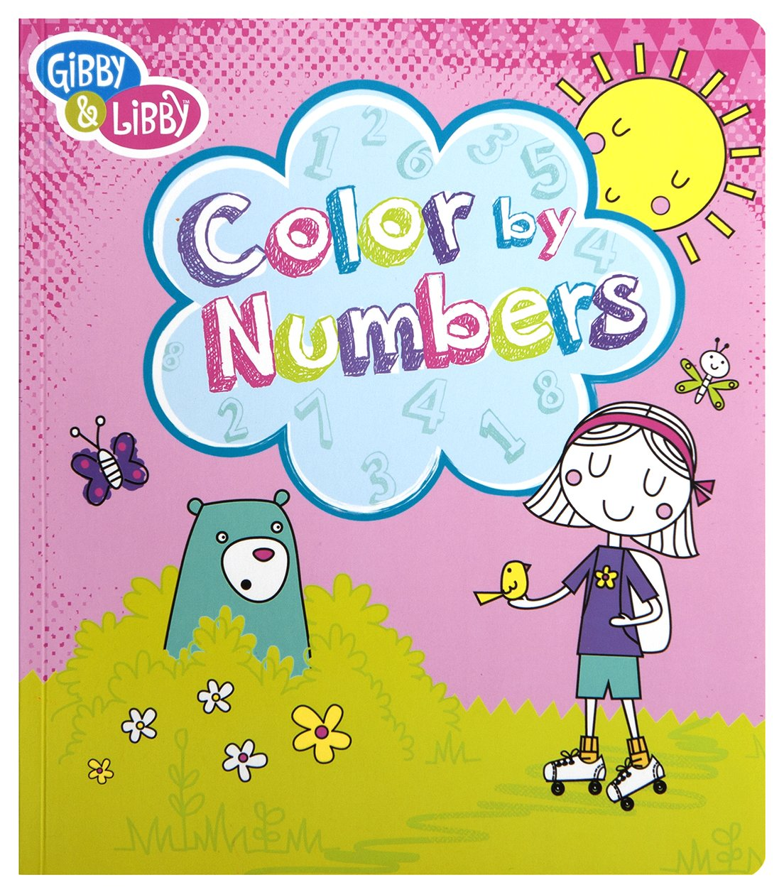 Amazon.com: C.R. Gibson Color By Numbers Book for Girls: Toys & Games