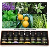 Emori Pure Essential Oil set Therapeutic Grade, 10ml each - 8 Scent Set
