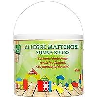 Legnoland Secchiello Costruzioni Legno Colorati, 50 Pezzi,, 35503