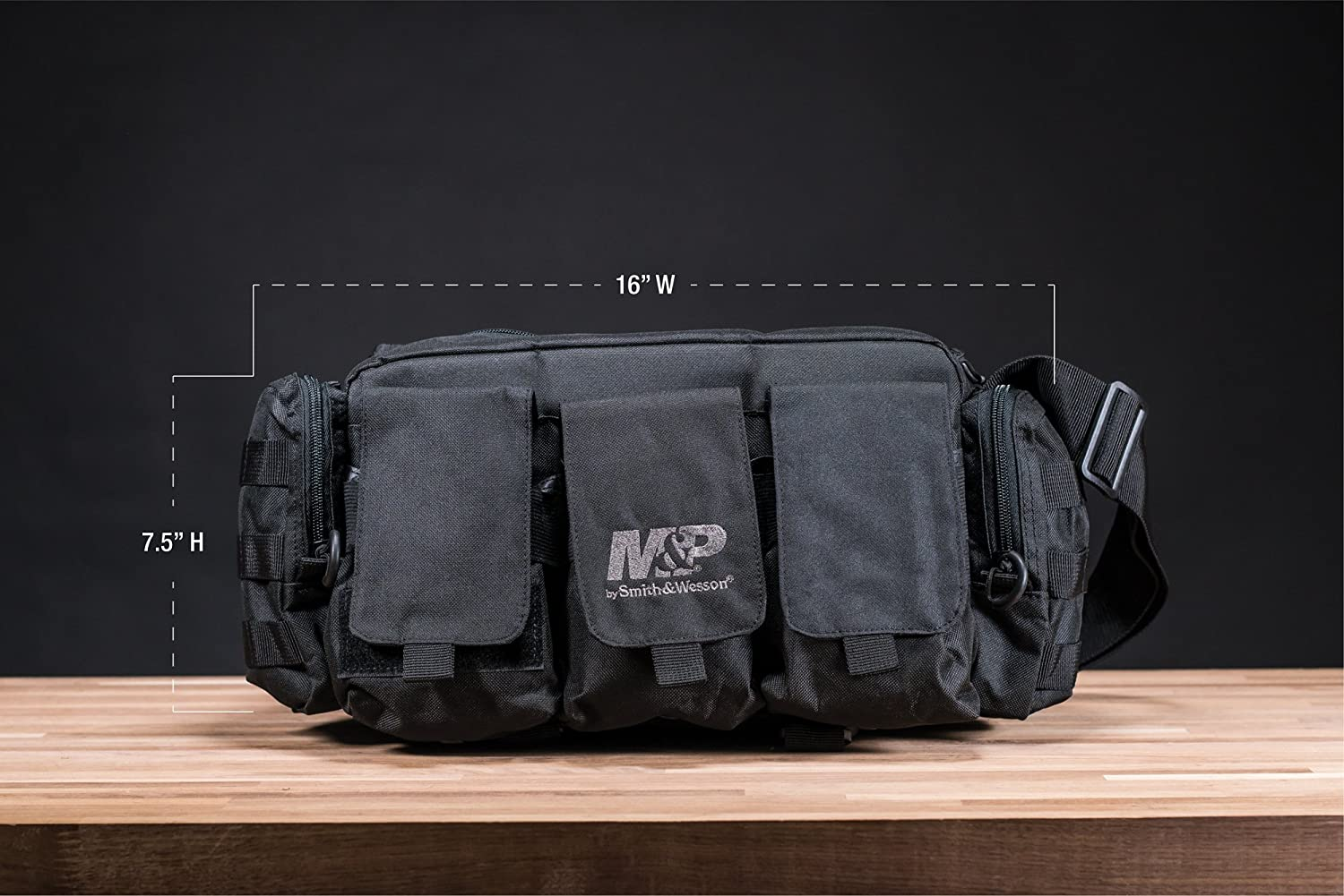 Smith Wesson M P Anarchy Bug Out Bag with Ballistic Fabric Construction, External Pockets and MOLLE for Emergency Prep, Disaster Survival and Shooting