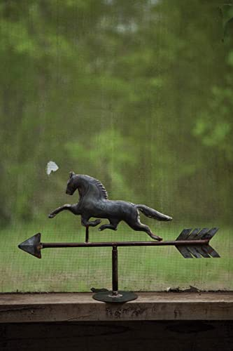 KALALOU Galvanized Table Top Horse Weathervane