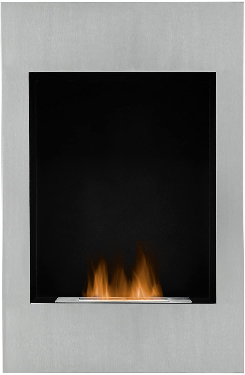 The alexis wall mounted bio ethanol fire in stainless steel 20 the alexis wall mounted bio ethanol fire in stainless steel 20 inch amazon kitchen home amipublicfo Images