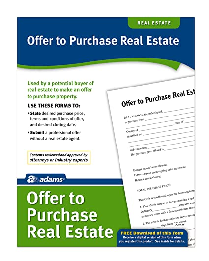 Amazoncom Adams Offer To Purchase Real Estate Forms And - Purchase legal forms