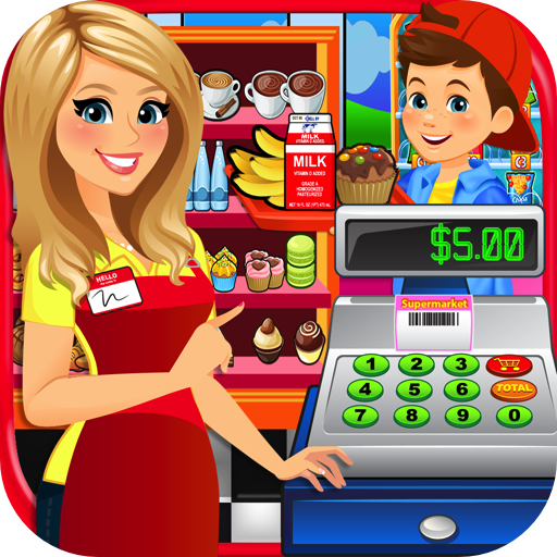 School Lunch Supermarket - Kids Grocery Food Maker Games FREE -