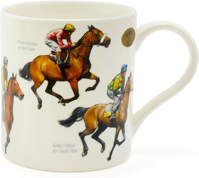 Leonardo Collection Becher Winning Post Pferde Galopper  Porzellan Fine China