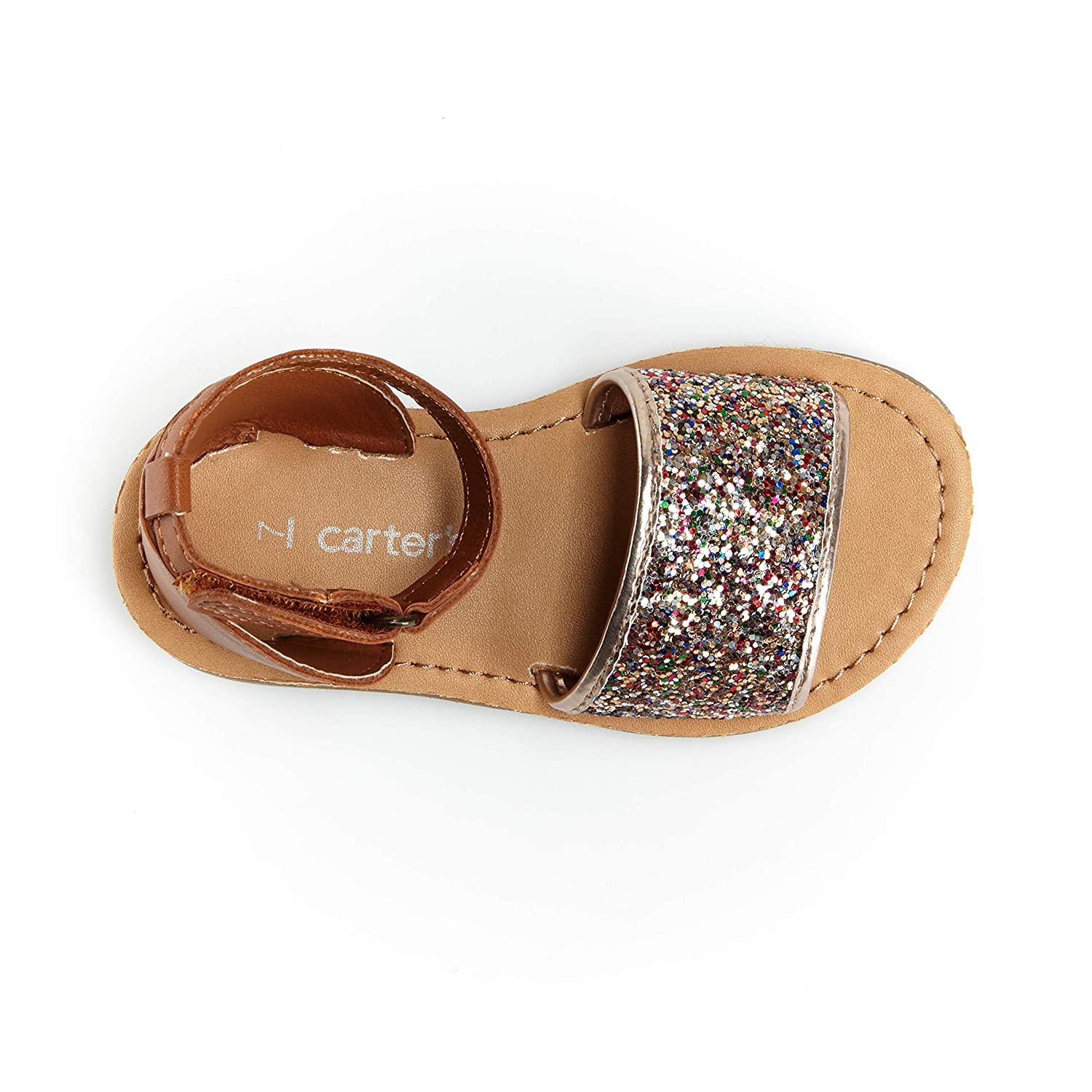 Multi carters Girls Emmie Embellished Dressy-Casual Sandal with Adjustable Strap 6 M US Toddler