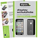 4x DIPOS Iphone 4 / 4S Displayschutzfolie Antireflex (entspiegelnd, matt) für Apple iPhone 4S - blasenfreie Anbringung, Premium Qualität jeweils 2x für die Vorderseite und die Rückseite