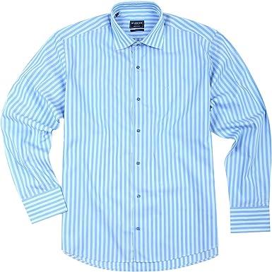 Mc Gregor - Camisa casual - Cutaway Collar - para hombre Hellblau Blau 44: Amazon.es: Ropa y accesorios