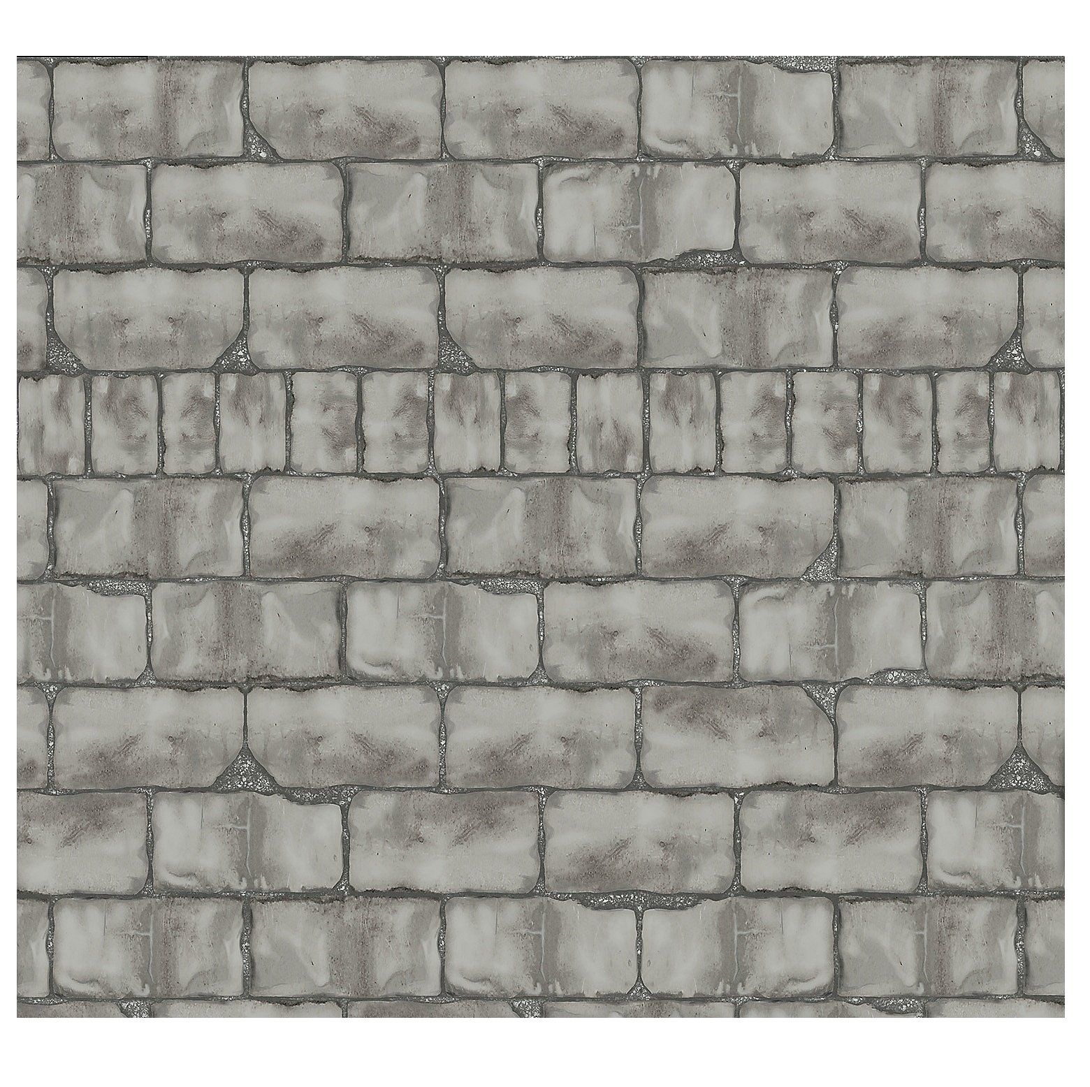 Design-A-Room Mad Scientist Wall Backdrop (30 ft. x 4 ft. ) Vinyl. Stone Brick Wall