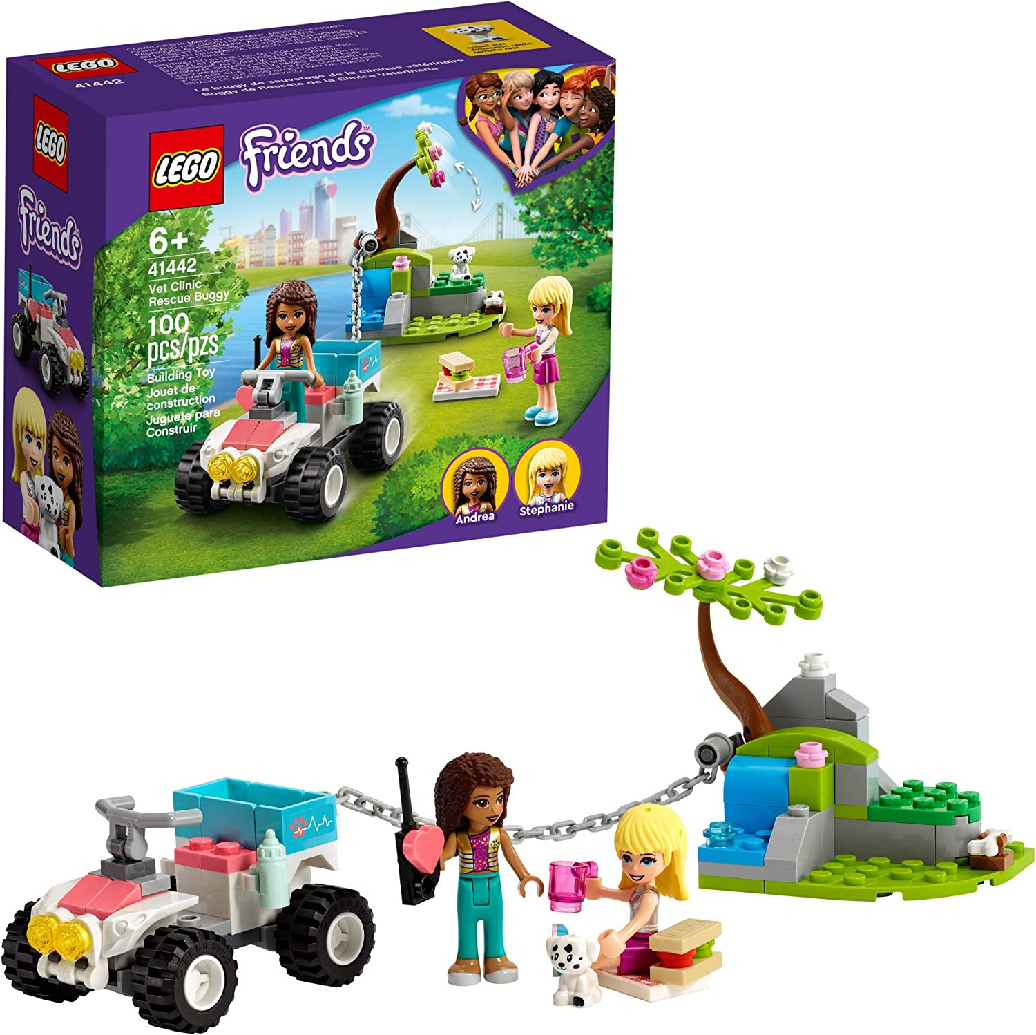 LEGO Friends Vet Clinic Rescue Buggy 41442 Building Kit; Vet Clinic Collectible Toys for Kids Aged 6+; Includes First-Aid Toy Accessories and Children's Vet Kit, New 2021 (100 Pieces)